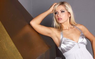 girl, dress, blonde, look, makeup, jenni gregg, jenny gregg