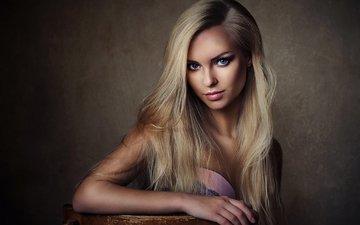 девушка, блондинка, модель, голубые глаза, длинные волосы, виктория пичкурова, шон арчер