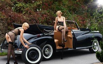 girls, limousine, blonde