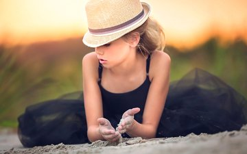 sand, lies, girl, hat, black dress, julia altork