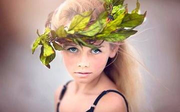 look, girl, hair, face, wreath, julia altork