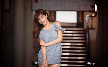 девушка, улыбка, взгляд, модель, тайвань, азиатка, фотосессия, чинчо