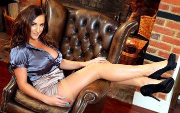 девушка, ноги, кресло, каблуки, туфли, стейси пул