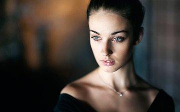 портрет, брюнетка, модель, лицо, голубые глаза, фотосессия, алла бергер, максим максимов