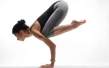 girl, pose, model, hands, fitness, sports wear, yoga, balance, workout