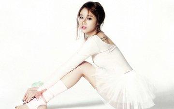 girl, group, music, look, model, hair, face, sitting, ballerina, t-ara