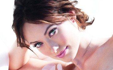 портрет, модель, лицо, актриса, голубые глаза, длинные волосы, знаменитость, оливия yайлд
