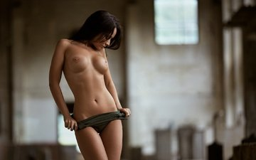 girl, model, chest, naked, angelina petrova