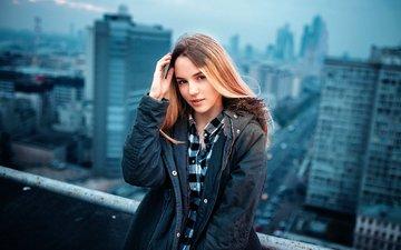 портрет, модель, рубашка, куртка, фотосессия, городской пейзаж, иван горохов, марьяна ро
