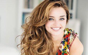 девушка, улыбка, портрет, модель, лицо, голубые глаза, фотосессия, миранда керр, длинные волосы