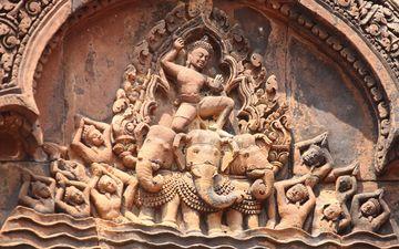 храм, история, fresco, камбоджа, ангкор ват
