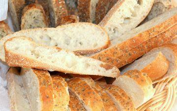 хлеб, корзина, выпечка, лепешка, фокачча, чиабатта