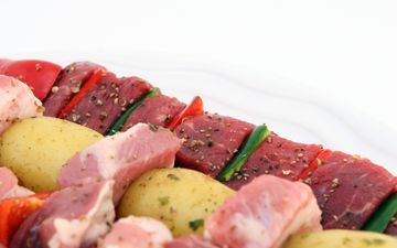 овощи, мясо, шашлык, специи, барбекю