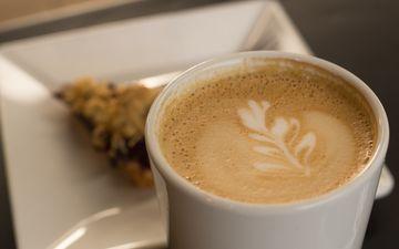 напиток, утро, кофе, чашка, капучино
