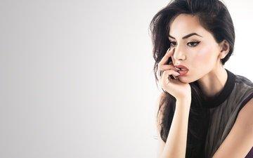 девушка, брюнетка, модель, волосы, губы, лицо, актриса, макияж, знаменитость, diipa khosla, дивья кхосла