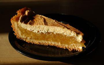 выпечка, торт, десерт, пирог, начинка, кусок, ломтик, яблочный пирог