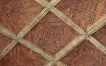 tree, texture, floor, architecture, brick, the ceiling, tile, symmetry, template
