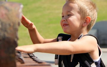 nature, children, the game, child, boy, hands, fun, piano