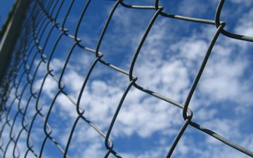 the sky, clouds, macro, background, the fence, mesh, netting