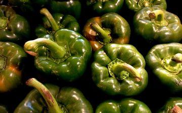 зелёный, овощи, перец