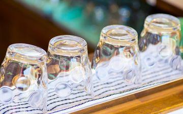 свет, кафе, стекло, посуда, стаканы, стакан
