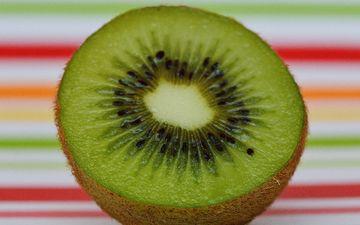 фрукт, киви, крупным планом, половинка