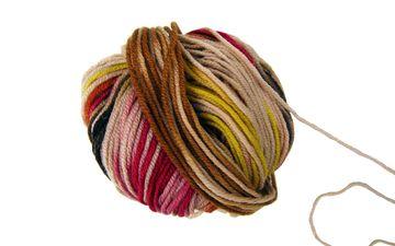 шерсть, разноцветные, белый фон, клубок, нитки, вязание, пряжа, рукоделие, моток