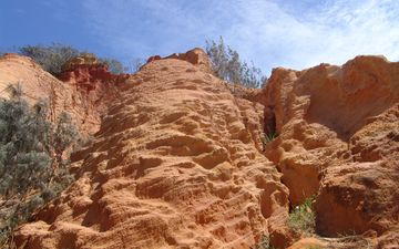 небо, скалы, природа, камни, растения, пейзаж, пустыня, гора, каньон, австралия, национальный парк