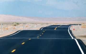 road, asphalt, ca, death valley
