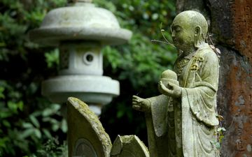 park, buddha, stone, statue, sculpture, religion, buddhism, god the guardian, teacher, the guardian deity of children