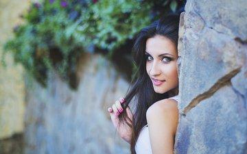 глаза, девушка, улыбка, портрет, взгляд, модель, лицо, julia sariy