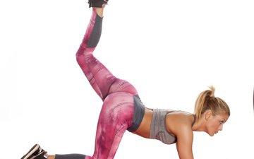 девушка, ножки, фитнес, гимнастика, тренировки