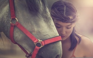 face, horse, girl, mood, portrait, model, arancha ari arevalo