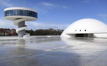 архитектура, испания, культурный центр оскара нимейера, авилес