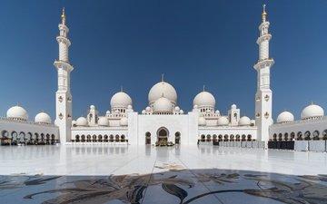 архитектура, мечеть, оаэ, абу-даби, мечеть шейха зайда