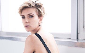 блондинка, портрет, модель, актриса, окно, макияж, прическа, скарлет йохансон