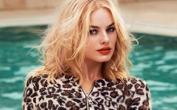блондинка, взгляд, модель, актриса, марго робби, марго роббі