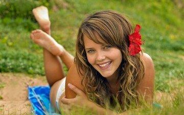 девушка, фон, взгляд, волосы, актриса, фигура, красотка, rebecca breeds