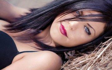 девушка, взгляд, модель, губы, лицо, помада, паскаль мартин, губная помада лицо