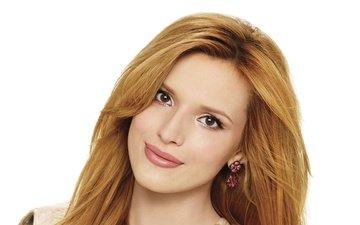 girl, look, hair, face, makeup, earrings, bella thorne