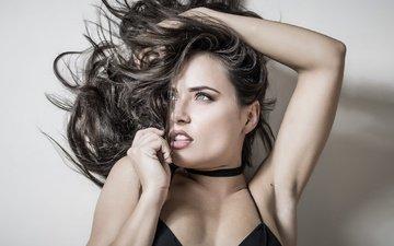 девушка, портрет, волосы