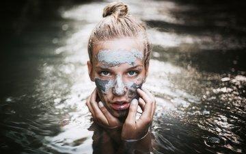 девушка, взгляд, модель, лицо, руки, сербия, в воде, užice, nebojsa mrdja