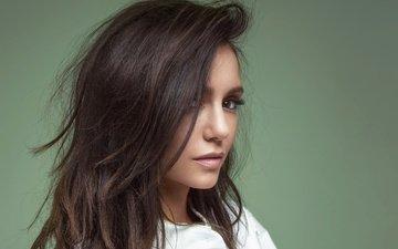 girl, portrait, hair, face, actress, nina dobrev