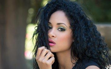 девушка, взгляд, модель, макияж, jeilyn rodríguez furcal