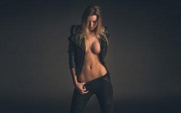девушка, куртка