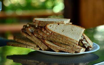 еда, хлеб, ломтики, выпечка, хлебобулочные изделия