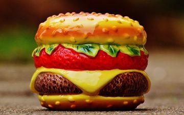бутерброд, гамбургер, копилка, чизбургер, керамика