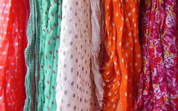 flowers, pattern, colors, scarf, tippet, scarves, shawls
