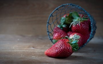 background, strawberry, board, berries, basket