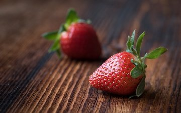 background, strawberry, board, berries, wooden surface